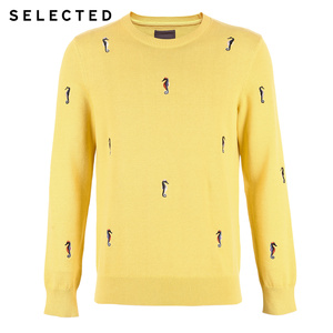 Image 5 - Мужской трикотажный пуловер из 100% хлопка с вышивкой животных, одежда для свитера C