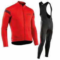 NW 2019 Conjunto de Jersey de Ciclismo de Primavera de manga larga Ropa de bicicleta de carreras Ropa de Ciclismo conjunto Maillot Ropa Ciclismo Hombre C25