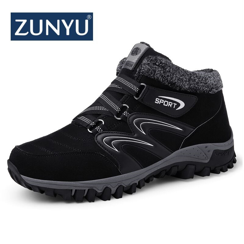 ZUNYU New Couple Unisex Boot Fashion Men Winter Snow Boots keep Warm Boots Plush Ankle Snow Work Shoes Mens Snow Sneakers BootsZUNYU New Couple Unisex Boot Fashion Men Winter Snow Boots keep Warm Boots Plush Ankle Snow Work Shoes Mens Snow Sneakers Boots