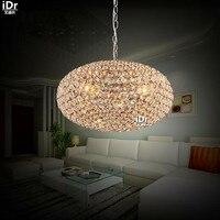 Crystal Light aisle Diner dining restaurant modern minimalist LED crystal lamp single head meal Pendant Lights Rmy 0493