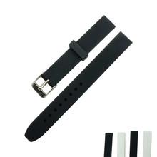 Men Women Child Commom Rubber Silicone Watchband 14mm Waterproof Watch Band / Strap + 3Pcs Spring Bar 1Pc Tool