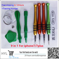 For iphone 7/7plus 9pcs in 1 Professional Opening Tool Kit for Mobile Phone Tablets Repair Replacement