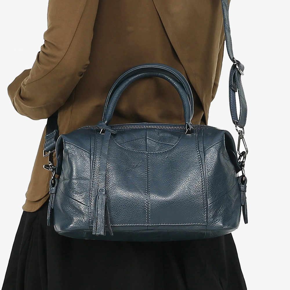 Mj mulheres bolsa de couro genuíno feminino real vaca bolsa de couro senhoras grande capacidade bolsa de ombro crossbody sacos para as mulheres