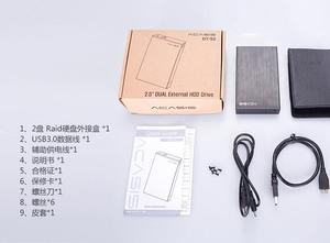 Image 5 - Acasis DT S2 aluminium 2 baies USB3.0 2.5 pouces double disque dur Raid boîtier prise en charge 2 to HDD RAID0/RAID1/JBOD/SPA