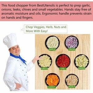 Image 3 - Siekacz do warzyw ze stali nierdzewnej owoce Chopper czosnku krajalnica do cebuli Dicer Cutter akcesoria kuchenne zioła i przyprawy narzędzia