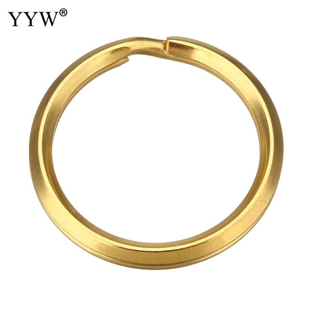 200 pièces pack anneaux ronds fendus en acier inoxydable couleur or anneaux de saut pour porte-clés porte-clés trou: environ 23mm accessoires