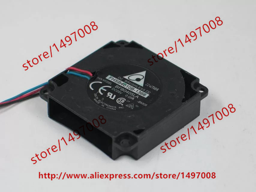 Free Shipping For Delta BFB0405LA -BM08 DC 5V 0.09A 3-wire 3-pin connector 60mm 40x40x10mm Server Square Cooling Fan free shipping for delta afc0612db 9j10r dc 12v 0 45a 60x60x15mm 60mm 3 wire 3 pin connector server square fan