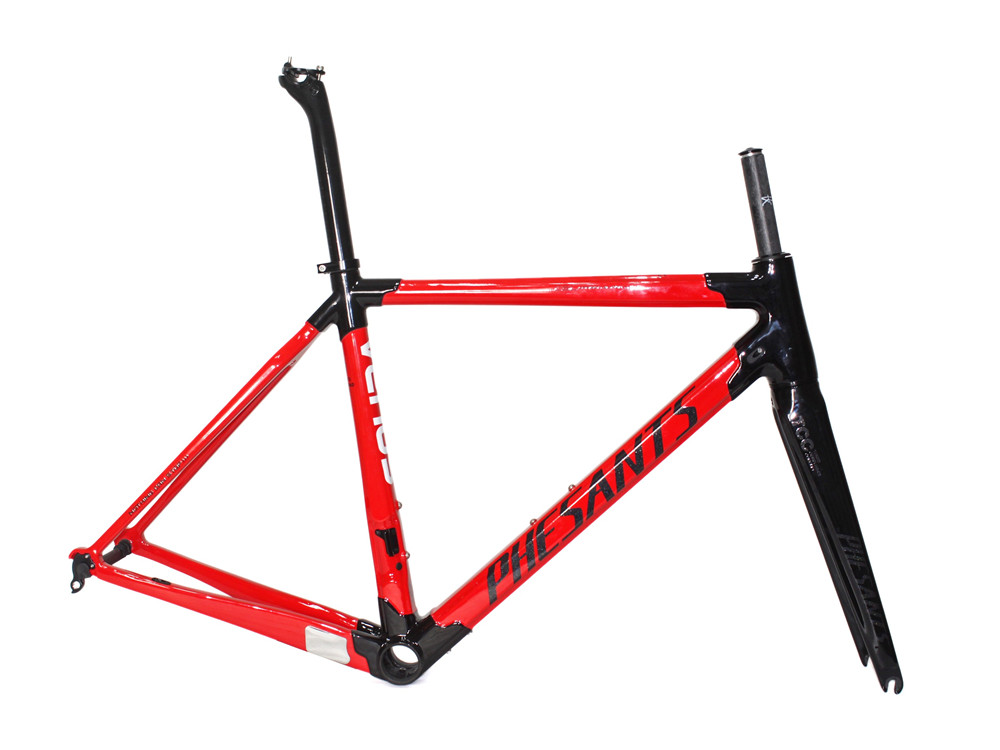 2019 PHESANTS VENUS Black Red T800 Carbon Fiber Road Bicycle Frame Race Bike Carbon Frame 6 Sizes Choice Two Years Warranty