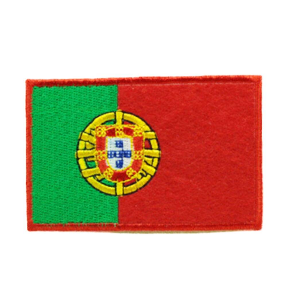 Нашивки с национальным флагом для одежды, нашивки с национальной эмблемой, нашивки с вышивкой, наклейки для одежды, нашивки с изображением страны, железные нашивки - Цвет: Portugal
