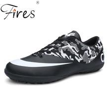 Incendios Hombres Zapatos deportivos Zapatos de fútbol en cuero PU Suela portátil transpirable Zapatillas de entrenamiento Zapatillas de deporte de hombre Patrón Zapatoas