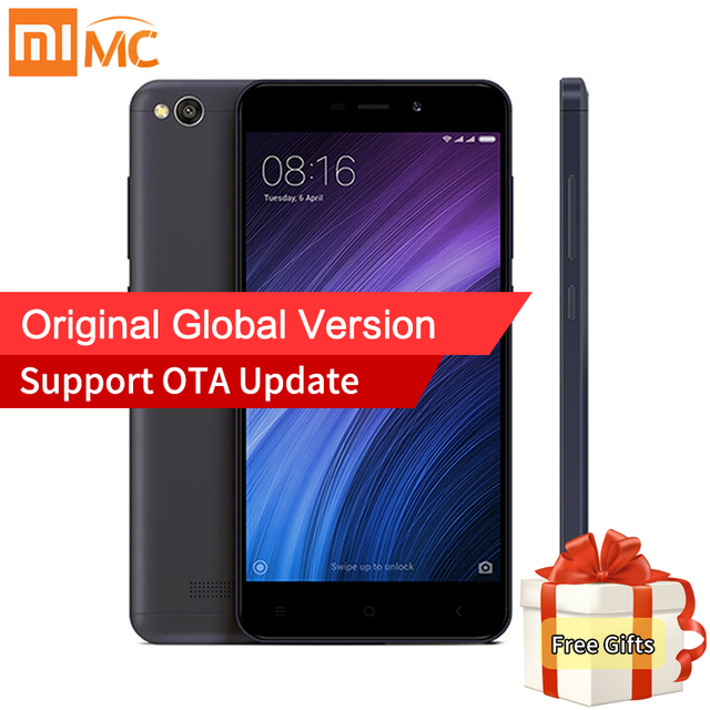 Глобальная версия Оригинальный Xiaomi Redmi 4A 4 смартфон 2 ГБ 16 ГБ 5.0 дюймов Snapdragon 425 4 ядра 13.0mp Камера MIUI 8.5 3120 мАч