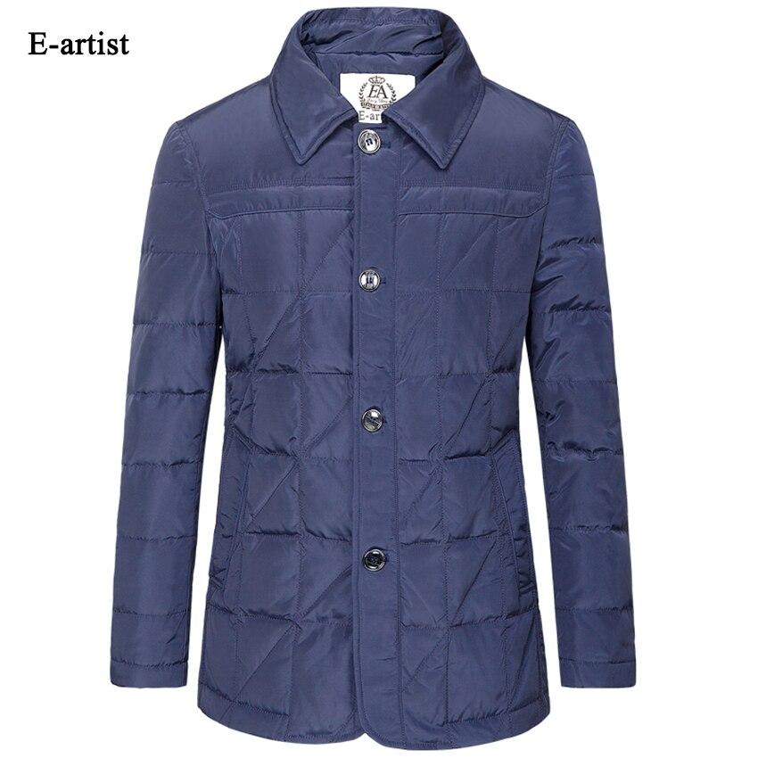 E-artist Mens Slim Fit Casual Down Jackets Coats Male Winter Warm Ultralight Parkas Outwear Overcoats Plus Size 5XL Y02