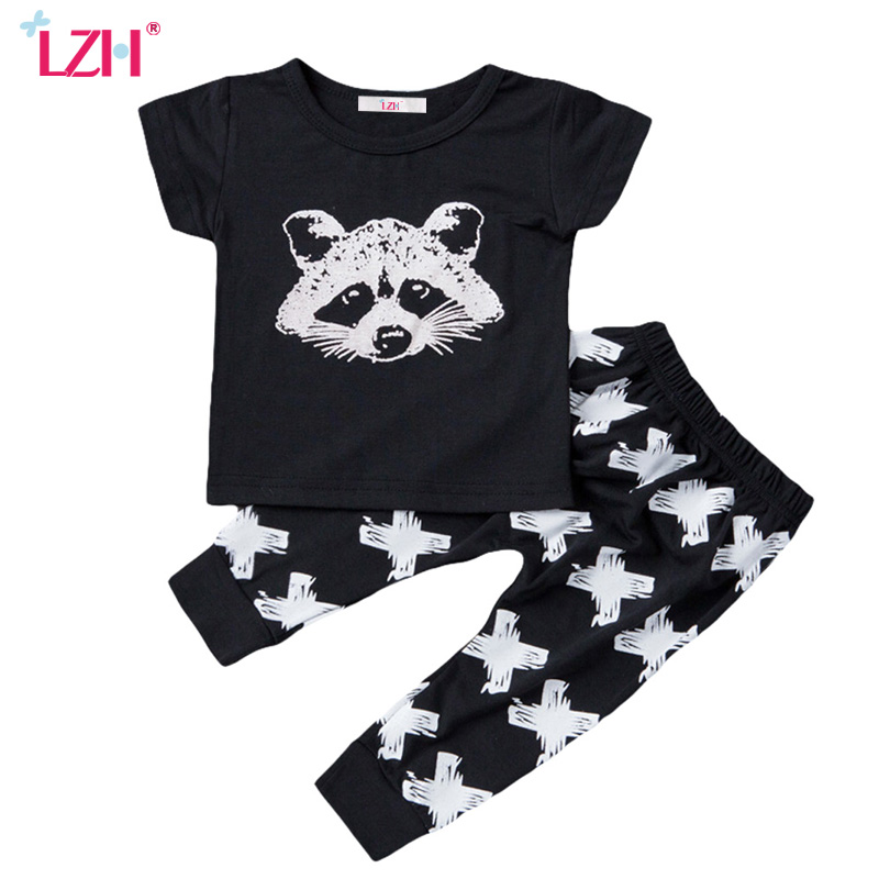 LZH Children Boy Clothes 2017 Summer Boys Clothes Set T-shirt+Pant 2pcs Baby Girl Outfits Kids Sport Suit For Boys Clothing Sets
