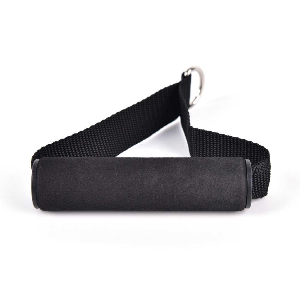 1 조각 저항 밴드 핸들 로프 바 부착물 폼 핸들 바 딥 스테이션 피트니스 삼두근 운동 체육관 블랙 컬러