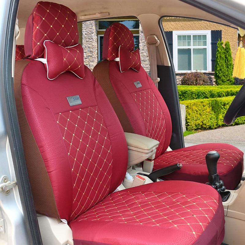 Alta calidad asiento de coche universal para todos JAC coche estilo  Car-Detector Hello Kitty cubierta del coche material de estilo cubre 5  asientos 2a067510776c