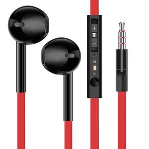 Image 5 - EARDECO Flat Wire In Ear Earphones Headphones Bass HiFi Earbuds Wired 3.5mm Earpiece Phone Earphone Headset with Mic Auriculare