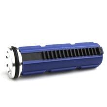 SHS 15  Steel Teeth Blue Piston with Aluminum piston Head Set for Airsoft AEG Gearbox Ver 2/3 sinairsoft shs cnc full steel 15 teeth piston with aluminum piston head m4 ak series set for airsoft aeg gearbox v2 v3 v6