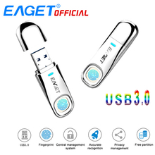EAGET USB Flash Drive 64GB Pen Drive Fingerprint Encryption 32GB USB