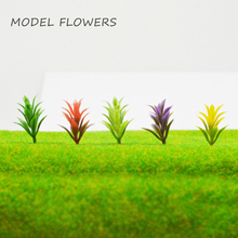 1/100 scale 3cm model artificial ABS plastic flower trees and plant grass