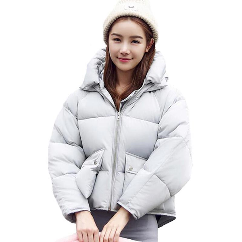 Winter Fashion Women Jackets Short Design Cute Cotton Padded Pink Coats Causual Warm Hoodies Loose Padded Parkas Casaco Feminino aporia as original design women autumn winter fashion novelty slim rivets floral 3d print patchwork short cotton padded jackets