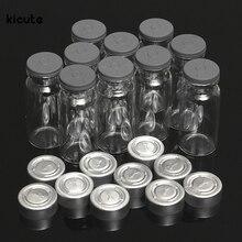 10 шт Новые 10 мл прозрачные Пробоотборные стеклянные бутылки для образцов флаконов и пробок и крышки для косметических бутылок лабораторная жидкость бутылка