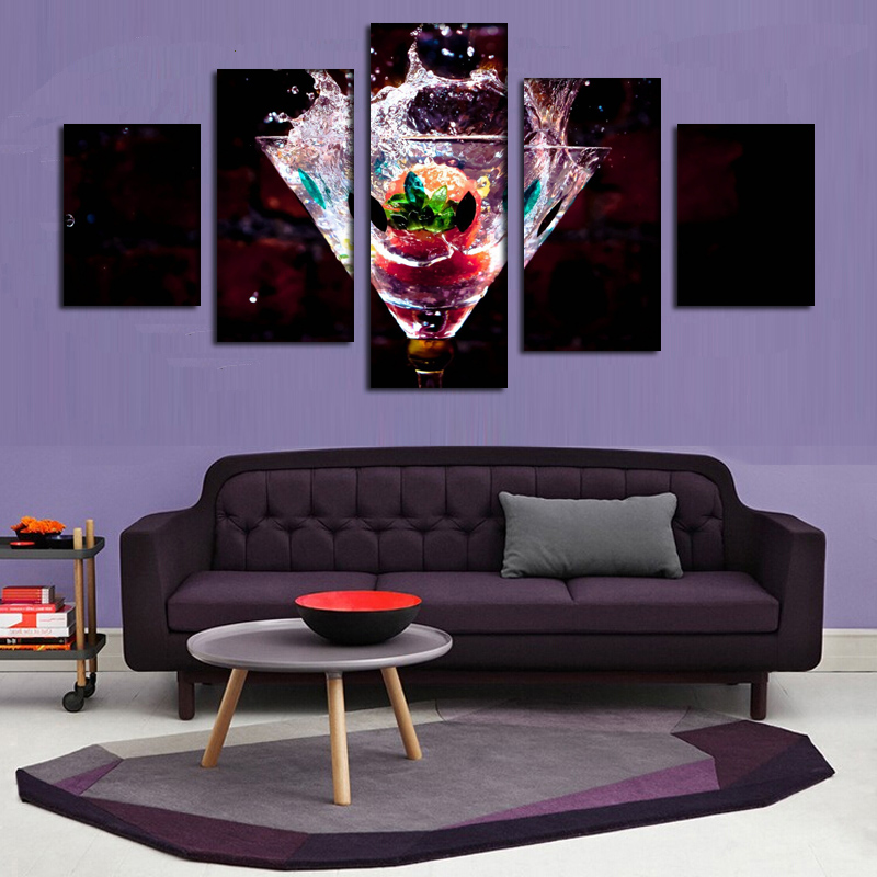 2016 New Large HD Picture water glass liquid drop drink oil painting on canvas for all Art Picture-in Painting u0026 Calligraphy from Home u0026 Garden on ... & 2016 New Large HD Picture water glass liquid drop drink oil painting ...