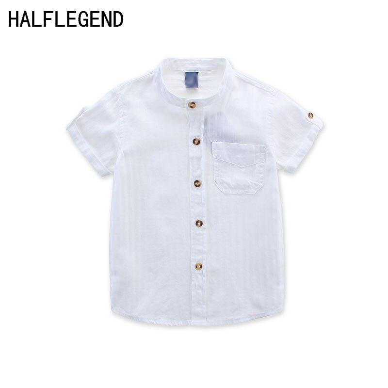 Neue 2018 shirt für jungen sommer kinder kleidung weiß bluse für jungen 2-3-4years Jungen hemd casual kleidung für jungen 10-12years