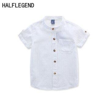 34610f978 Nueva camisa de 2018 para los niños de la ropa de los niños del verano  blusa blanca para niño 2-3-4years chicos camisa casual ropa para niño  10-12years