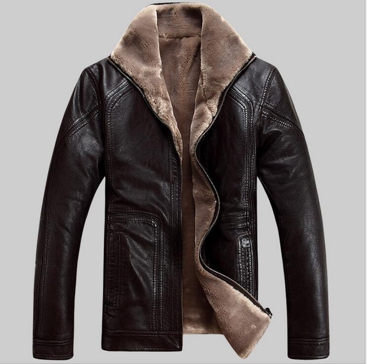 2017 Nuovi Uomini Del Cuoio Genuino Cappotto di pelle di pecora corta Giacca di pelle da uomo giacche invernali mens Trasporto Libero di SME Più M-5XL
