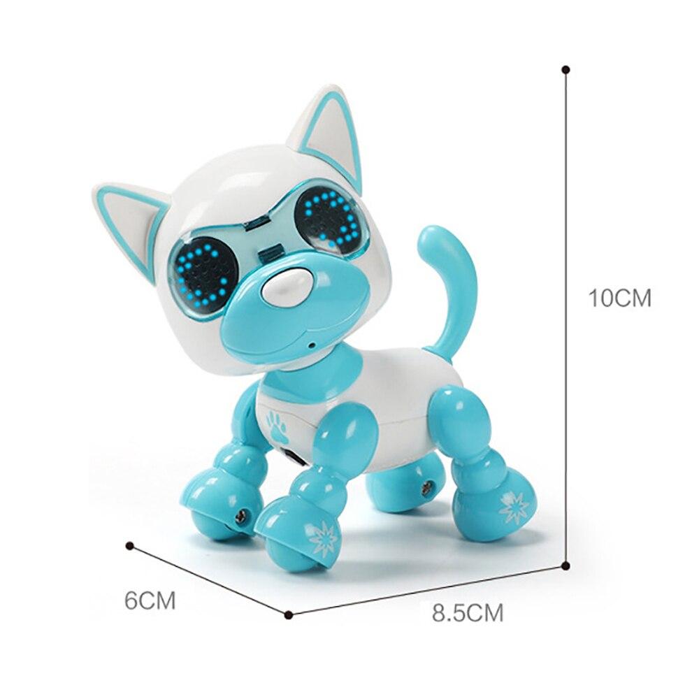 Купить с кэшбэком UInteractive Smart Robot Toy Dog Electronic Pet Puppy LED Eyes Sound Recording Sing Sleep Cute Action Education Robotic Toys Dog