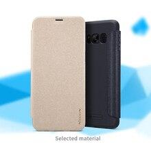 Nillkin Sparkle супер тонкий гуманизированные откидная крышка защитный чехол для Samsung Galaxy S8/S8 плюс с упаковки