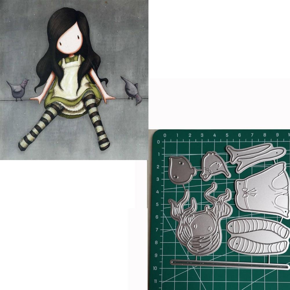 1 Girl Metal Cutting Dies 2019 Scrapbooking Craft Cut Stamps Embossing Stencils Invitation Card Making