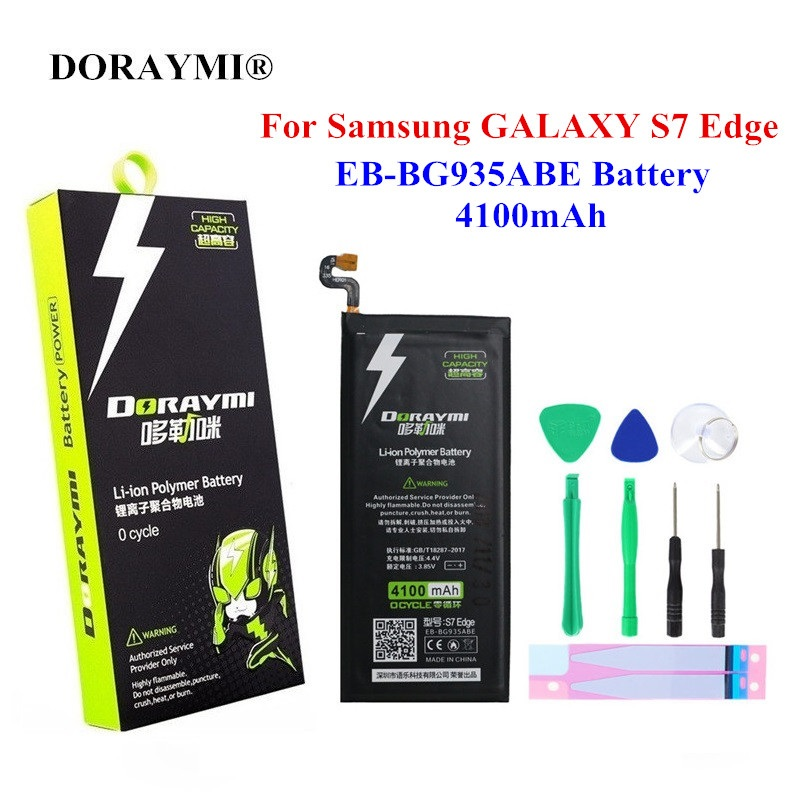DORAYMI EB-BG935ABE Battery 4100mAh for Samsung GALAXY S7 Edge S7Edge <font><b>SM</b></font>-G935 G935F <font><b>G9350</b></font> G935 G935FD G935P Replacement Bateria image