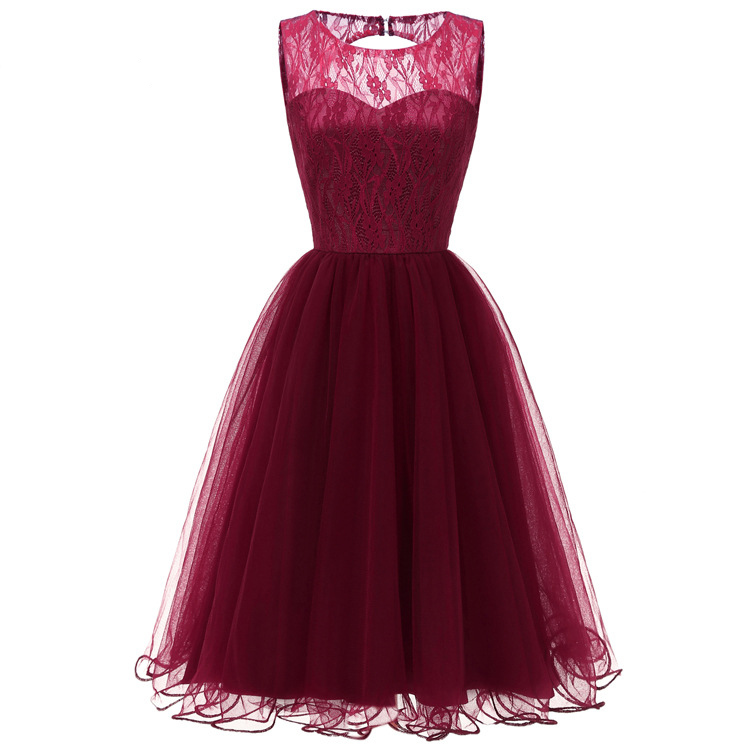 Lace Tulle Burgundy Navy Blue Pink Cocktail Dresses Robe Elegant Party 2019 Short Vestidos Homecoming Dress