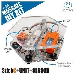 M5Stack ESCALA DIY Kit incluindo Sensor de Peso de Alta Precisão Balança Eletrônica de Pesagem Máquina