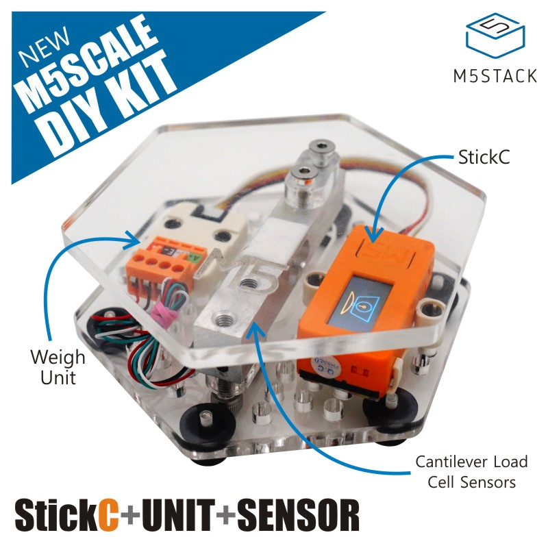 M5Stack SCALE DIY Kit including Weight Sensor High Precision Electronic Scale Weighing Machine
