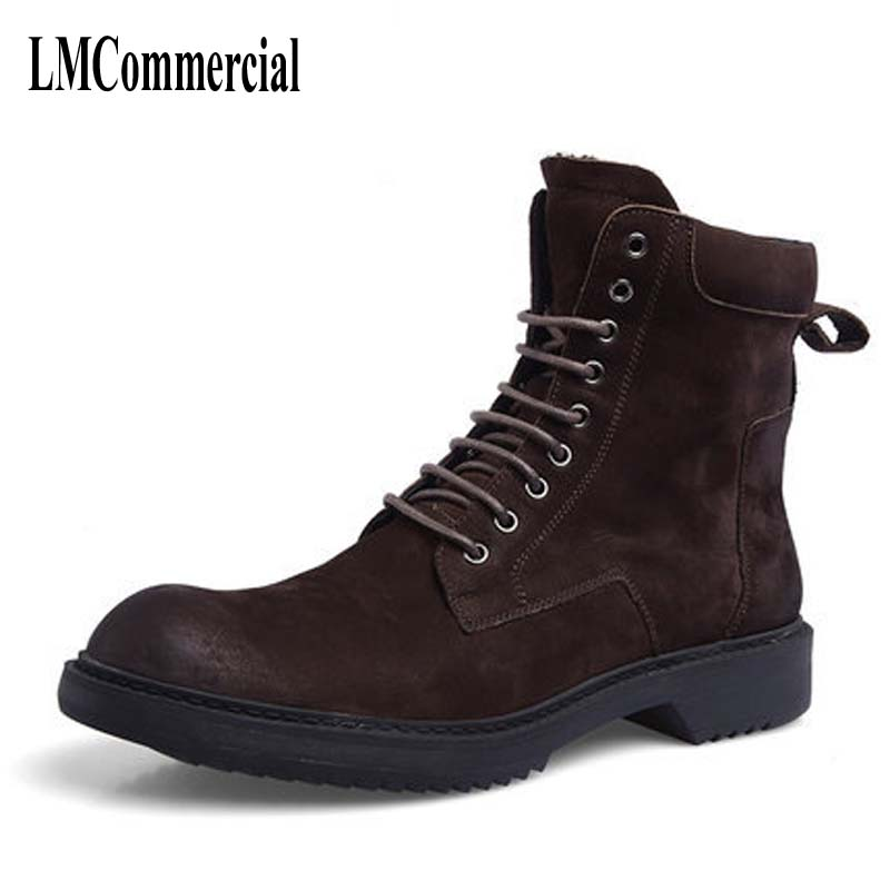 Autumn Martin boots shoes for male leather retro Korean Short Boots