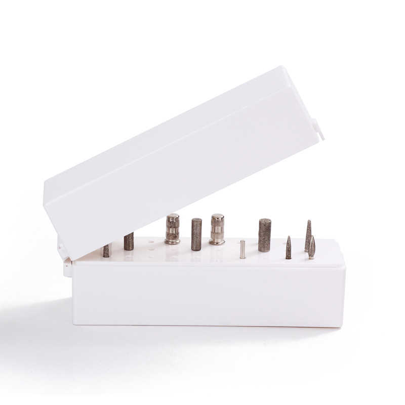 Hot sale 30 Holes Nail Drills Bit Holder Stand Display Grinding Head Bit Storage Box Rack Manicure Tool