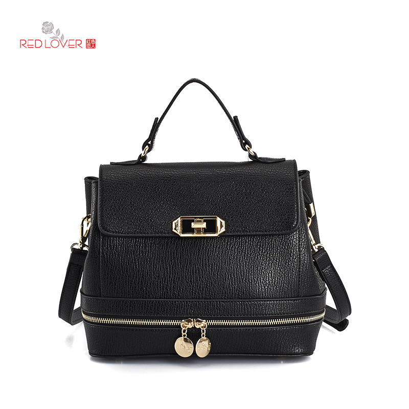 ФОТО Classic leather women's handbag PU leather female messenger bag solid cover tote vintage brand handbags Freeshipping