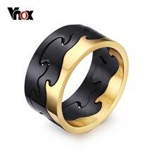 VNOX Exclusivo Extraíble Anillos para Hombres Joyería Negro Mens del Acero Inoxidable de Los Anillos de Compromiso de Oro/Negro/Plateado