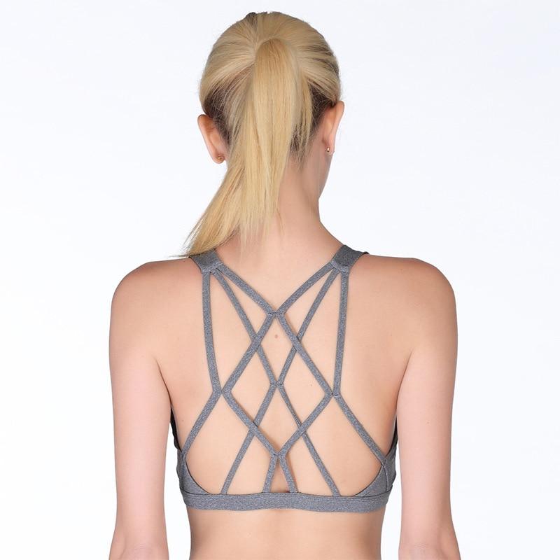 CIM Multi shoulder strap cross beauty back micro collar underwear fitness rimless bra in Bras from Underwear Sleepwears