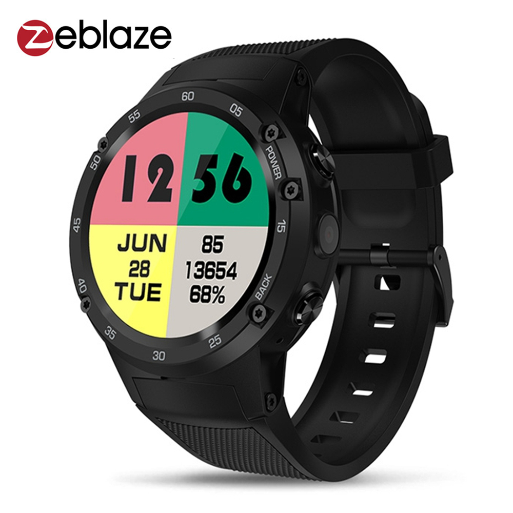Zeblaze THOR 4 Smartwatch Phone 4G 1.39 inch Android 7.0 1GB RAM 16GB ROM GPS Smart Watches 5.0MP Camera 580mAh Wearable Devices