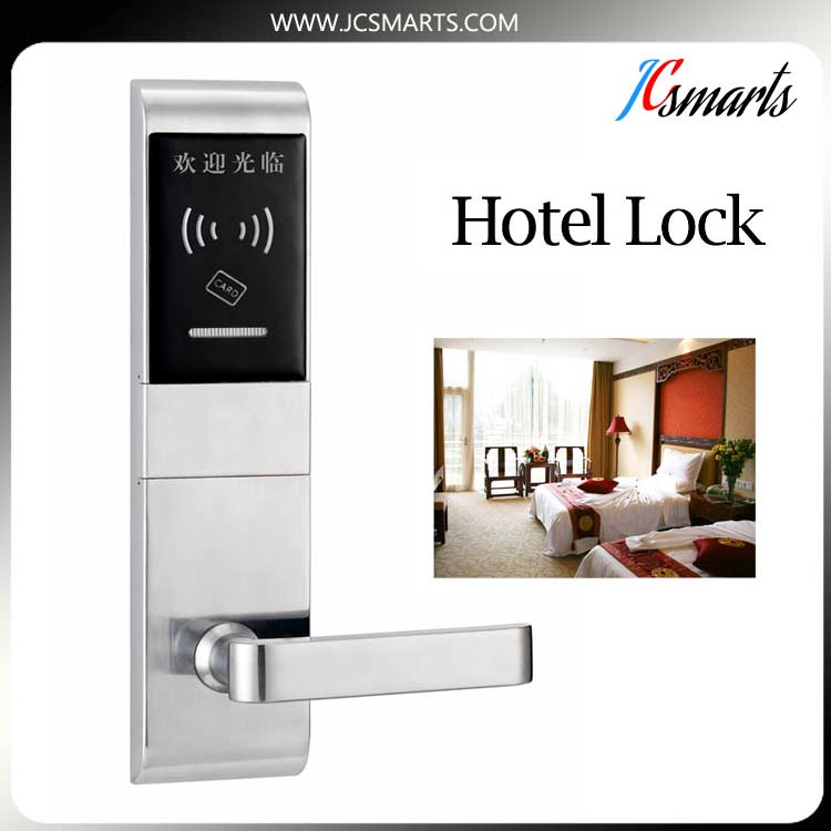 Manufacturer RFID card reader door lock for hotel, RF hotel lock system digital electric best rfid hotel electronic door lock for flat apartment