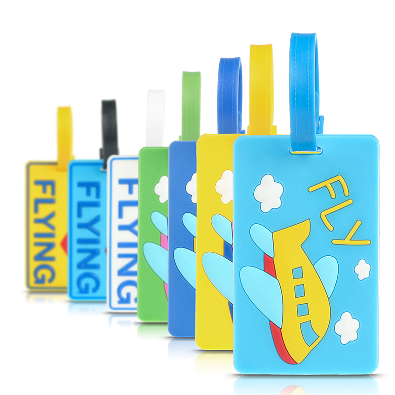 Creative Cartoon Aircraft Multicolor Luggage Tags Travel Creative Luggage Listing Daily Necessities ID Card Holders Luggage Tags