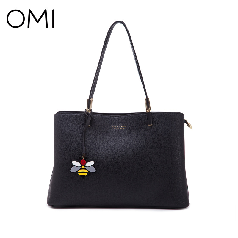 2018 new Omega OMI handbags European and American fashion tote bag Simple and versatile shoulder bag new european and american fashion steampunk hourglass gear alloy drop earrings