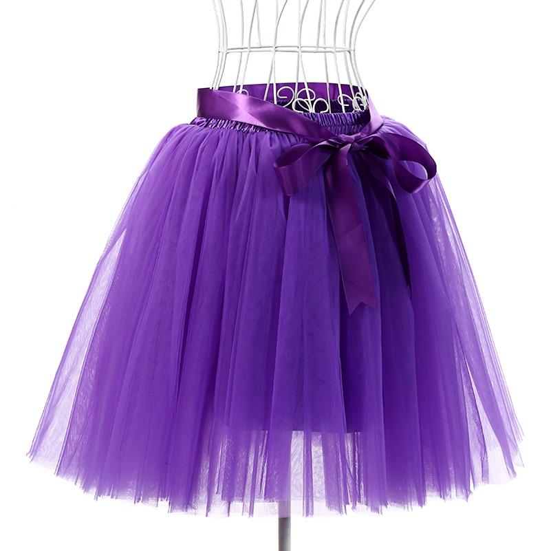 Skirts Womens 7 Layers 50 cm Midi Tulle Skirt American Apparel Tutu Skirts Women Ball Gown Party Petticoat 2017 faldas saia jupe