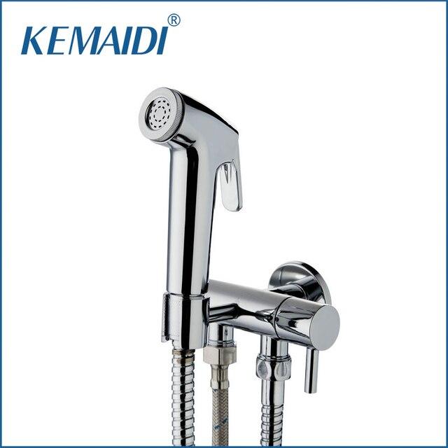 KEMAIDI Badezimmer Bidet Wasserhahn Toilette Bidet Torneira 50134 Hand  Spray Wandhalterung + Dual Wasser Way U0026