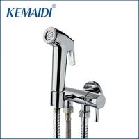 KEMAIDI Bathroom Bidet Faucet Toilet Bidet Torneira 50134 Hand Spray Wall Mount Single Water Way&Single Handles Mixer Tap