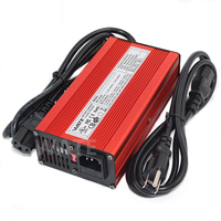 87.6V 2A Charger 24S 72V LiFePO4 Battery Charger With Cooling fan Aluminum shell Quick charge