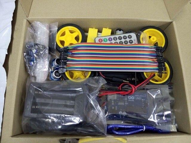 Resultado de imagen para Kit Para Armar Auto Inteligente 4wd Drive Smart Car Arduino